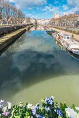 Canal de la Robine in Narbonne, France