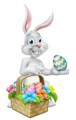 Easter Bunny Rabbit on Egg Hunt