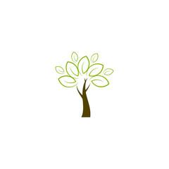 Green tree logo, icon vector design element, bio, eco concept