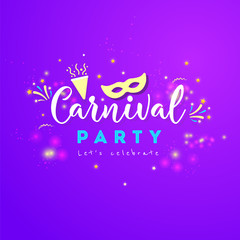 Carnival colorful poster.Vector illustration