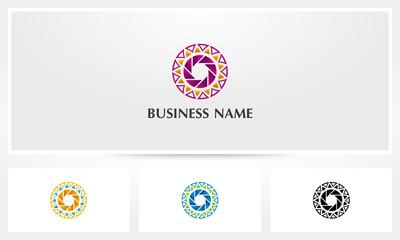 Shutter Sun Petal Flower Logo