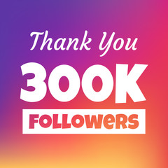 Thank you 300k followers web banner