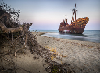 Photo sur Aluminium Naufrage Dimitrios shipwreck