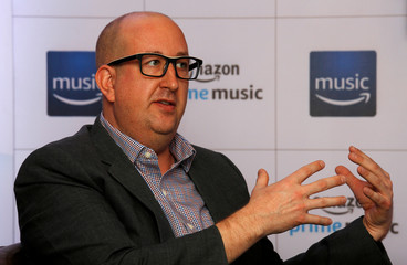 Sean McMullan, Director International Expansion at Amazon Music speaks during a round table conference in Mumbai