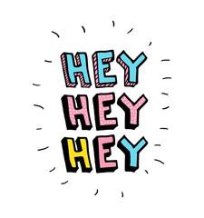 Hey. Vector cartoon sketch illustration background