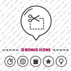 Coupon icon. Scissor symbol.