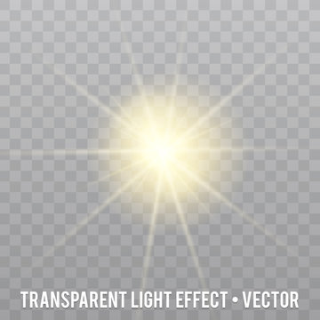 Light effect isolated on transparent Background.