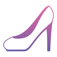 high heel shoe icon vector illustration design