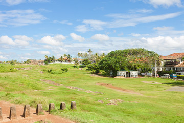 Galle, Sri Lanka - Traditional living within the historical town wall of Galle