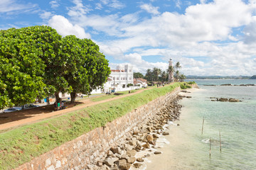 Galle, Sri Lanka - Visiting the old historical city wall of Galle