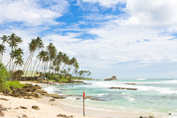 Koggala Beach, Sri Lanka - A wide view across the bay of Koggala Beach