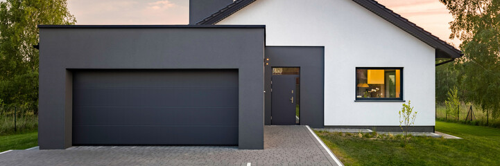 Modern house with garage Wall mural