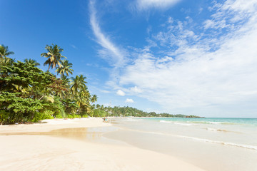 Mirissa Beach, Sri Lanka - A view across the wonderful beach of Mirissa