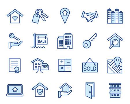 Real Estate Vector Icon Set