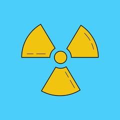 Radioactive zone, vector sign or symbol. Radioactivity. Dangerous