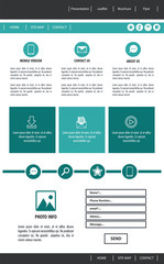Business Website template vector illustration graphic design