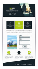 Website template contact box vector illustration graphic design