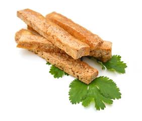 Tofu on white background