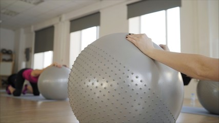 fitness ball in the gym
