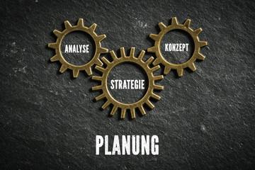 Planung als Kombination aus Analyse, Strategie und Konzept