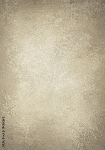 Old Light Brown And Faded White Background Paper Design With Distressed Vintage Texture Worn Parchment