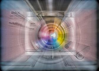 colorful zoom burst