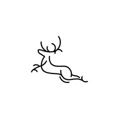 Deer logo vector concepts modern minimalist template graphic