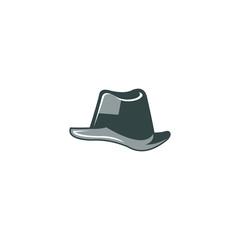 Hat logo vector abstract shape template modern