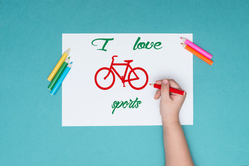 the photograph on the subject of Cycling, leisure, healthy lifestyle