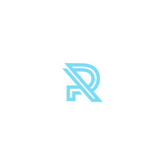 logo R letter abstract design vector graphic template concepts