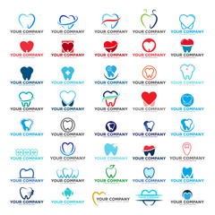 Dental logo set, dental medicine vector