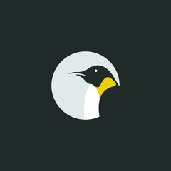 creative Penguin vector logo design graphic abstract template