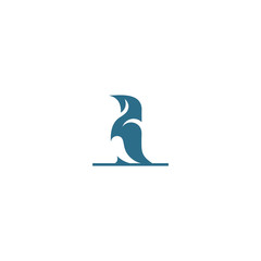 creative Penguin vector logo design graphic abstract template