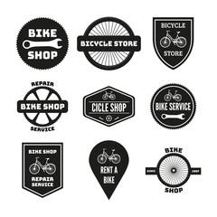 Bike badges set