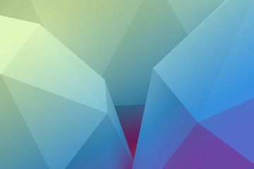 Low poly green and blue abstract background