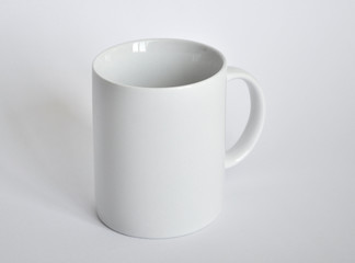 White cup on a white