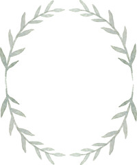 Watercolor wreath vector isolated on white background. Watercolor illustration.