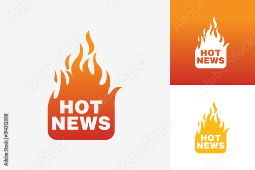 Hot News Logo Template Design Vector, Emblem, Design Concept ...