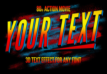 80s Action Movie Text Style