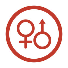 sex icon on white background