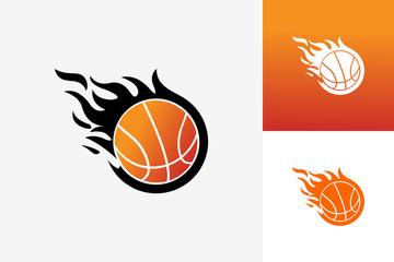 Basket Ball Fire Logo Template Design Vector, Emblem, Design Concept, Creative Symbol, Icon