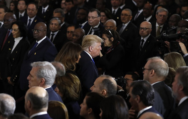 U.S. President Donald Trump and first lady Melania Trump attend ceremonies in honor of the late Rev. Billy Graham.