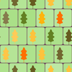 seamless vector background with leaves for your design