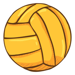 Vector Cartoon Yellow Ball for Water Polo