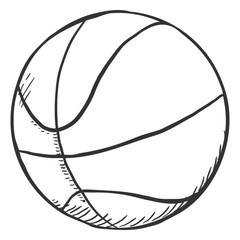 Vector Single Sketch Ball for Basketball