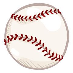 Vector White New Cartoon Ball for Baseball