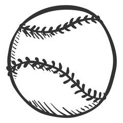Vector Pencil Sketch Ball for Baseball