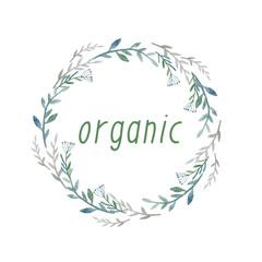 Organic. Watercolor hand drawn nature background. Illustration.