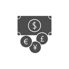 money icon.Element of popular banking icon. Premium quality graphic design. Signs, symbols collection icon for websites, web design,