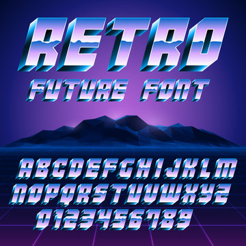 Retro 80s Alphabet and Numbers